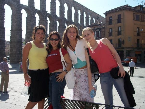 Nicole with other SDSU students in Madrid in 2005!