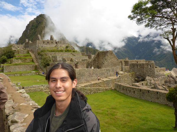 Alfredo visiting Machu Picchu!