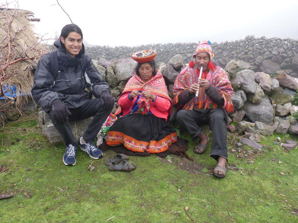 Linguistic Horizons intern, Alfredo Rios, visiting a high Andean Community.