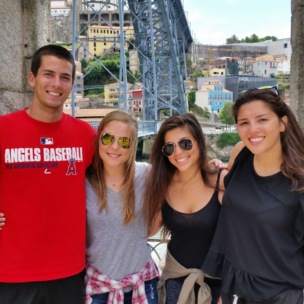 Reid, Hailey, Christina and Talya on a weekend trip to Portugal