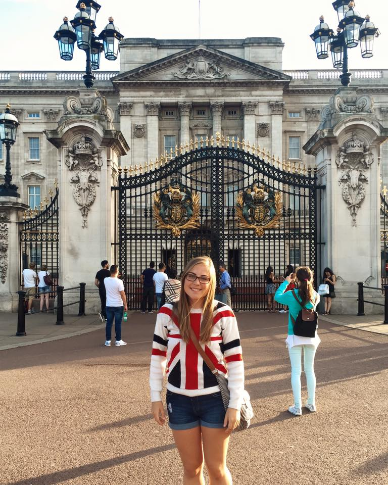 Christina on her weekend trip to England!