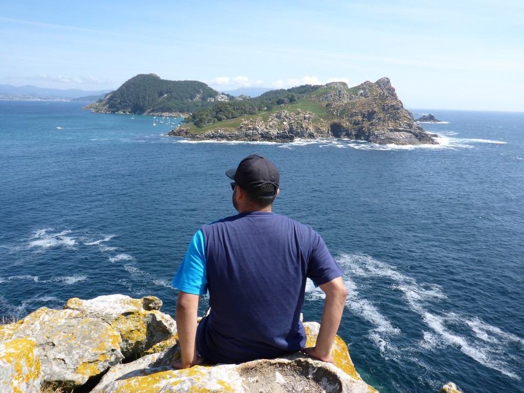 Hans at Islas Cies!