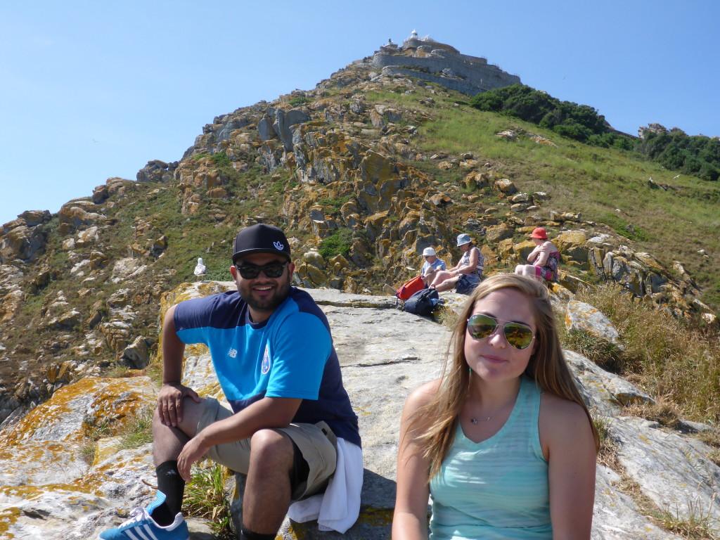 Hans & Christina enjoying the view.