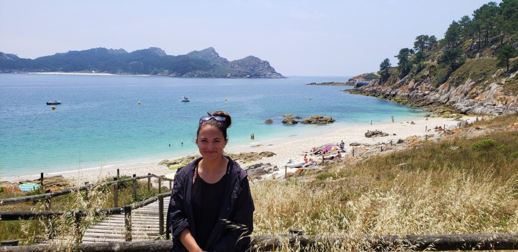 Anna at Islas Cies