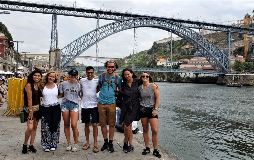Anna and the other students in Porto