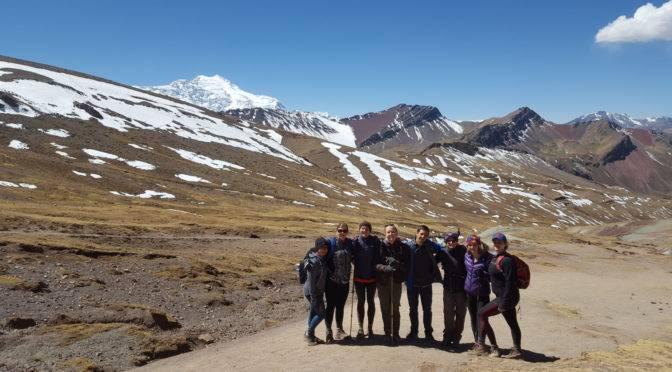 Linguistic Horizons Students hiking in Peru